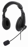 Stereo slušalke z mikrofonom USB MANHATTAN, črna