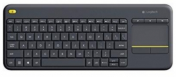 Brezžična tipkovnica Logitech K400 Plus Wireless Touch črna (Unifying, SLO gravura)