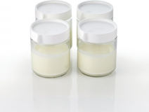 YC400W Set steklenih lončkov za jogurt